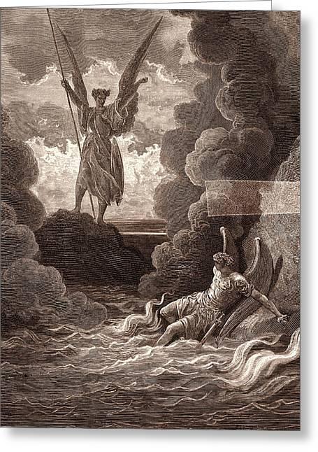Satan And Beelzebub, By Gustave DorÉ. Dore Greeting Card