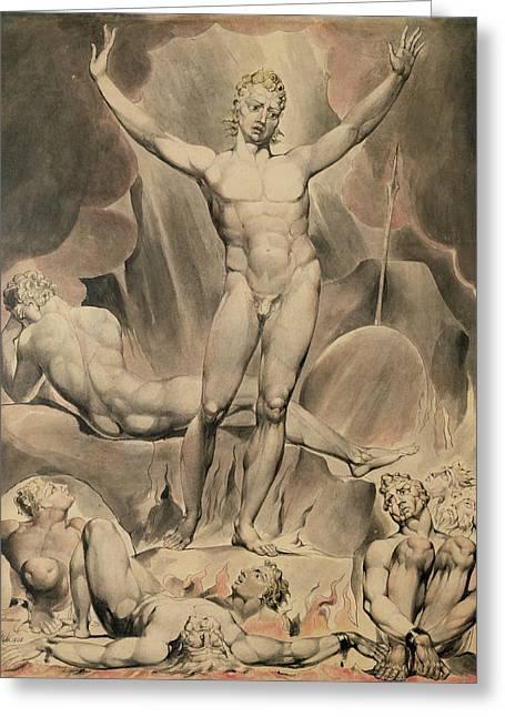Satan Arousing The Rebel Angels, 1808 Greeting Card