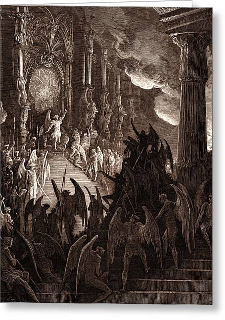 Satan In Council, By Gustave DorÉ. Dore Greeting Card