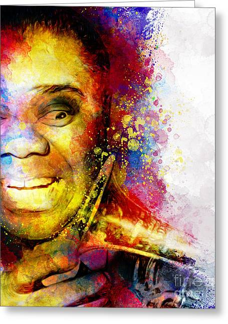 Satchmo Louis Armstrong Greeting Card by Shanina Conway