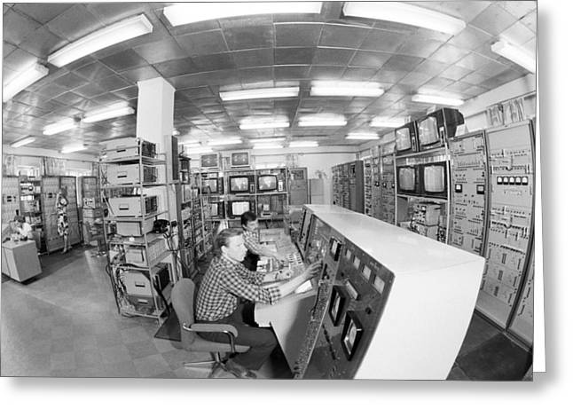 Satellite Control Room, 1980 Greeting Card