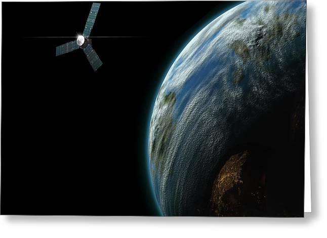 Satellite Planet No.2 Greeting Card