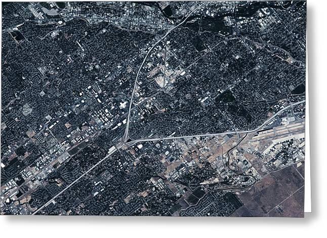 Satellite View Of Boise, Idaho, Usa Greeting Card