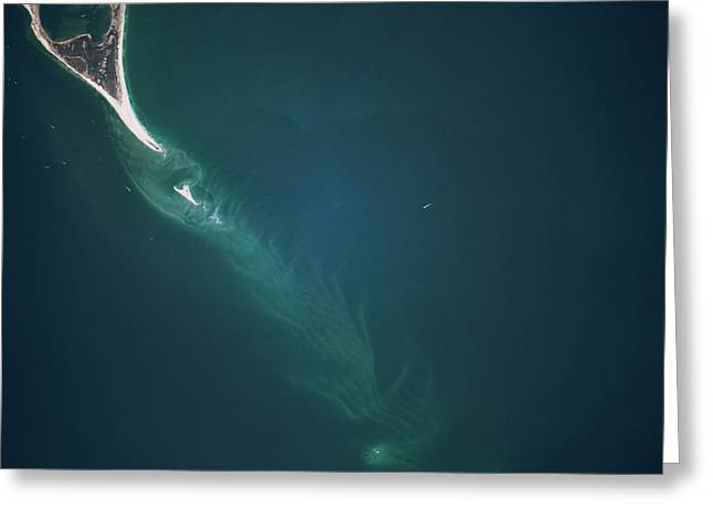 Satellite View Of Cape Lookout Area Greeting Card