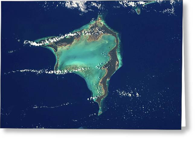 Satellite View Of Crooked Island Greeting Card