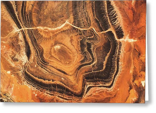 Satellite View Of Desert Area Greeting Card