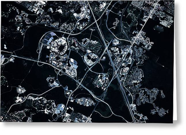 Satellite View Of Disneyworld, Orlando Greeting Card