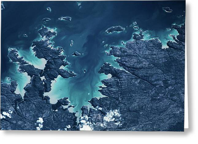 Satellite View Of Mitchel Plateau Area Greeting Card
