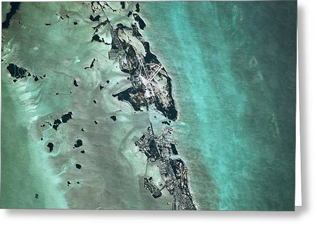 Satellite View Of Naval Air Station Greeting Card