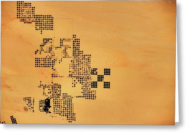 Satellite View Of Patterns Of Circular Greeting Card