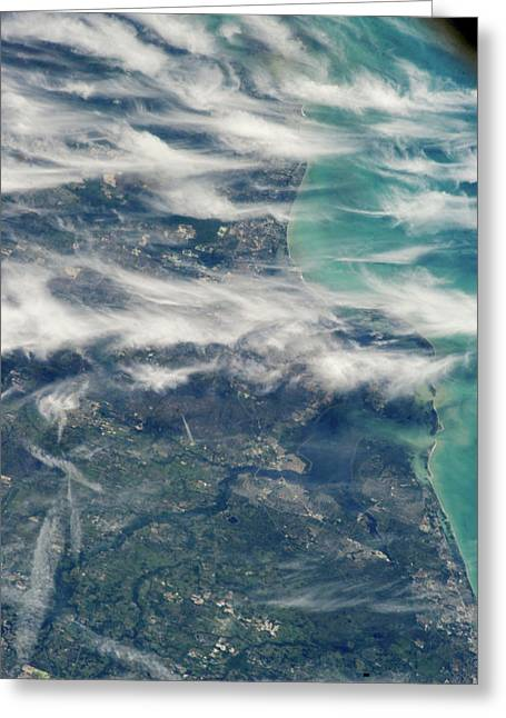 Satellite View Of Ponte Vedra Beach Greeting Card