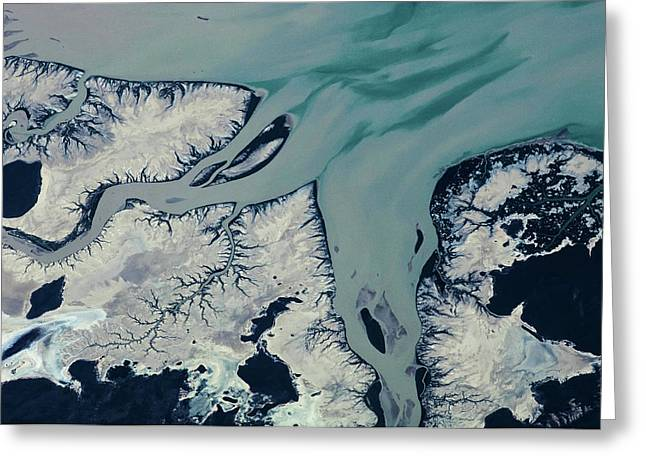 Satellite View Of Prince Regent River Greeting Card