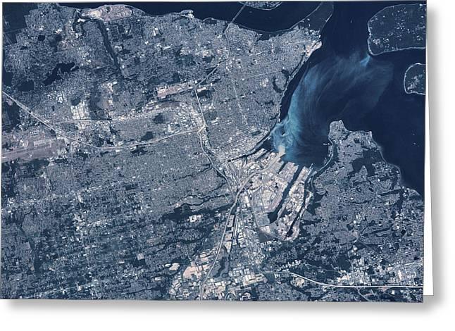 Satellite View Of Tacoma, Pierce Greeting Card