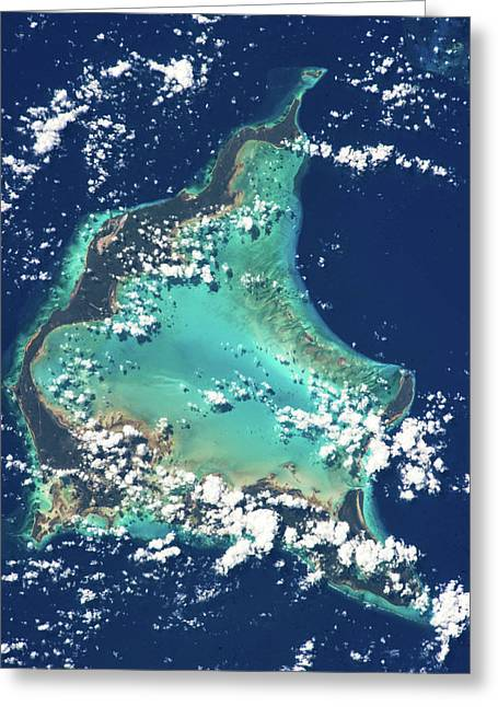 Satellite View Of Turks And Caicos Greeting Card