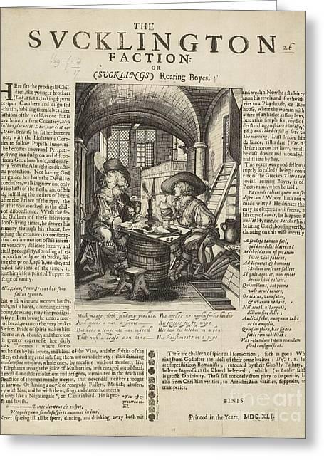 Satire On Gluttony, 17th Century Greeting Card