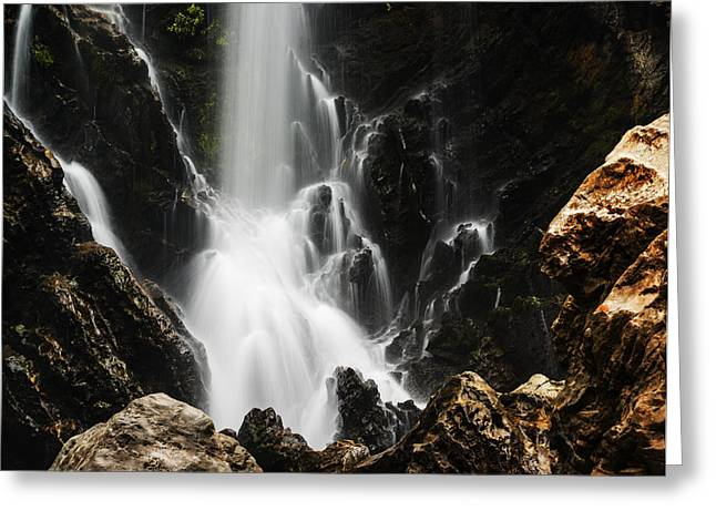 Satoddi Falls Close Look Greeting Card