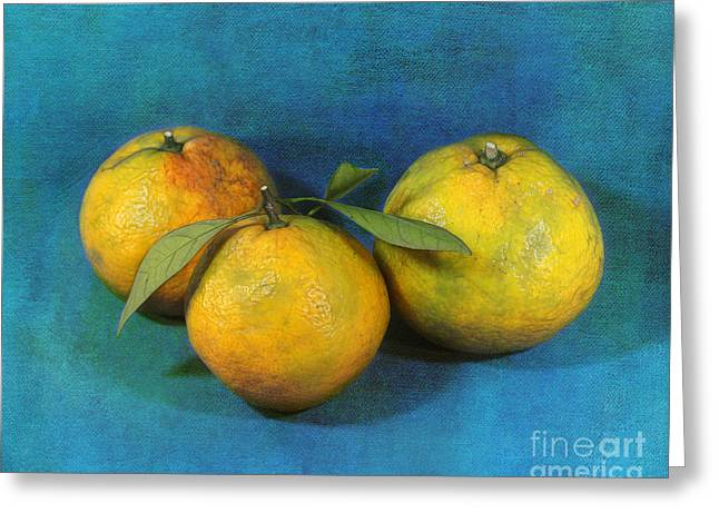 Satsumas Greeting Card by Judi Bagwell