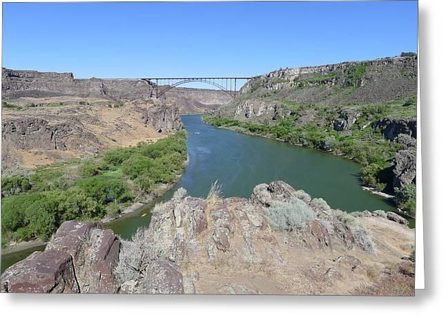 Saturday Afternoon Near The Snake River Bridge Greeting Card by Joel Deutsch