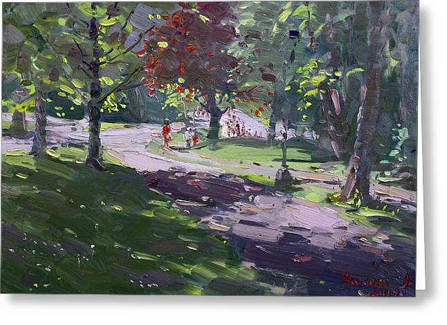 Saturday In The Park Greeting Card by Ylli Haruni