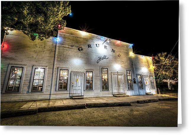 Saturday Night At Gruene Hall Greeting Card
