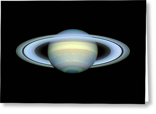 Saturn And Its Rings Greeting Card