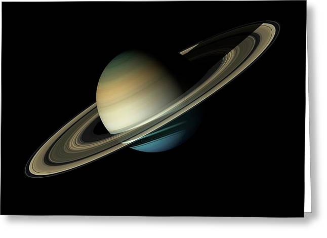 Saturn Greeting Card by Carlos Clarivan