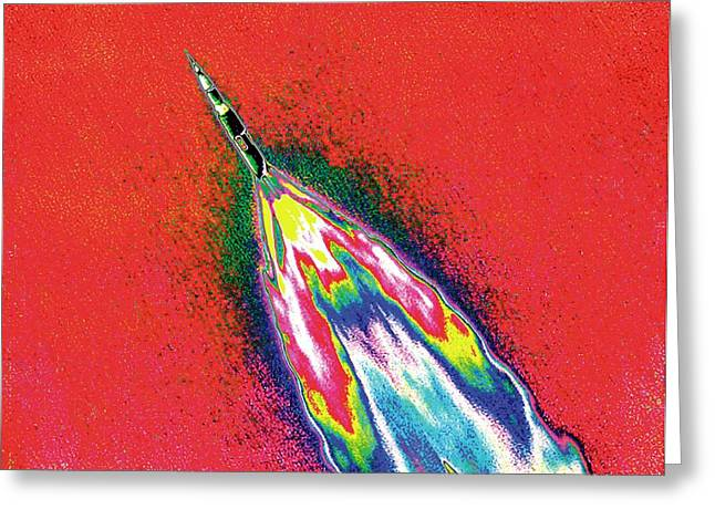 Saturn V Rocket Greeting Card