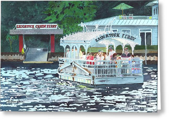 Saugatuck Chain Ferry Greeting Card