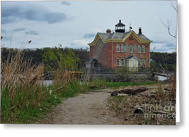 Saugerties Lighthouse On The Hudson River Greeting Card