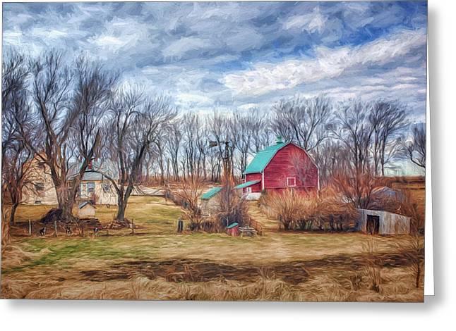 Saunders County Farm 1 Greeting Card