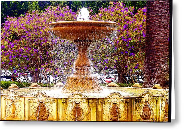 Sausalito California Fountain Greeting Card