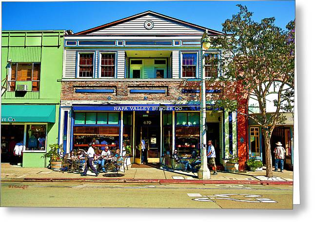 Sausalito Hangout  Greeting Card by Wayne Kondoff