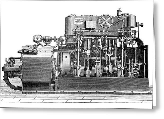 Sautter-harle Engine Greeting Card by Science Photo Library