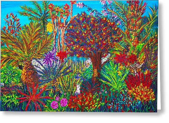 Savage Garden Greeting Card by Peri Craig