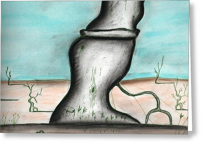 Savage Tree In The Desert Greeting Card