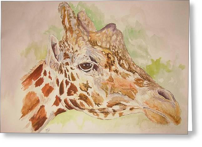Savanna Giraffe Greeting Card