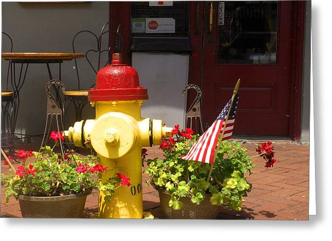 Savannah Fire Hydrant Greeting Card by Sherry Dooley