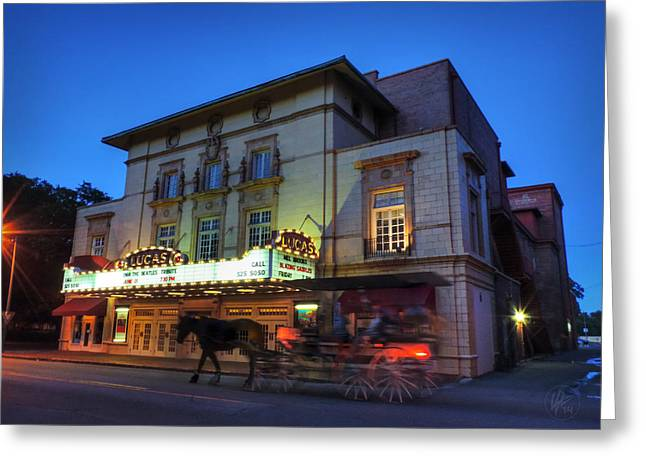 Savannah - Lucas Theatre 001 Greeting Card by Lance Vaughn