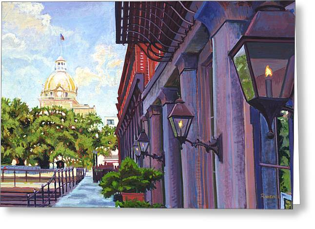 Savannah Morning Greeting Card by David Randall