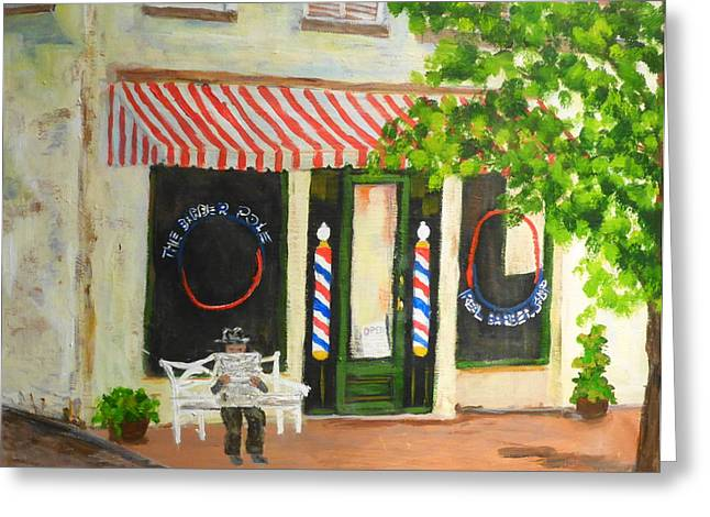 Savannah Barber Shop Greeting Card
