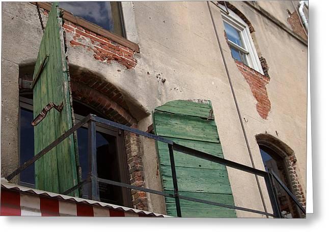 Greeting Card featuring the photograph Savannah Window by Alan Lakin