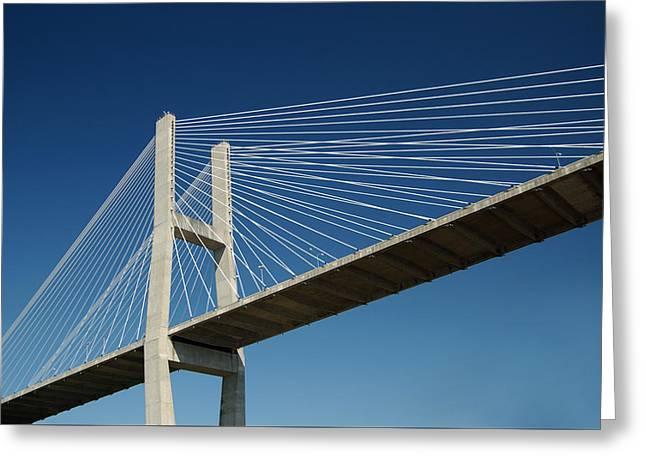 Greeting Card featuring the photograph Savannah River Bridge Georgia Usa by Bob Pardue
