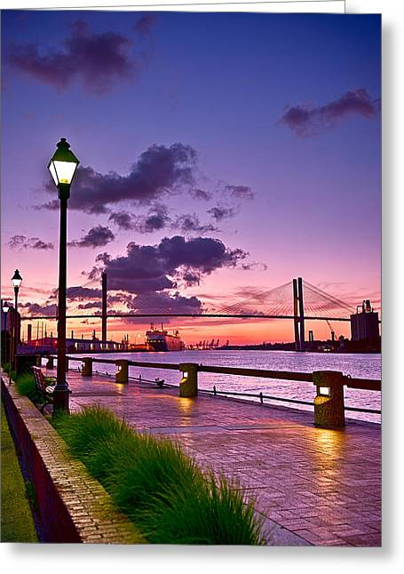 Savannah River Bridge Greeting Card