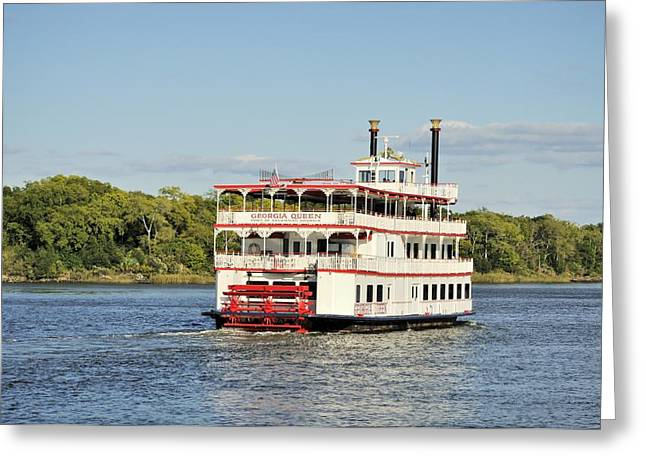 Savannah River Steamboat Greeting Card