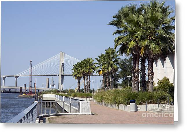 Savannah Riverwalk Greeting Card