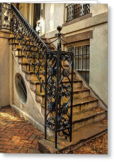 Savannah Staircase Greeting Card by Diana Powell