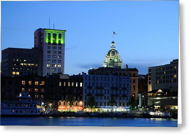 Greeting Card featuring the photograph Savannah Waterfront by Bradford Martin