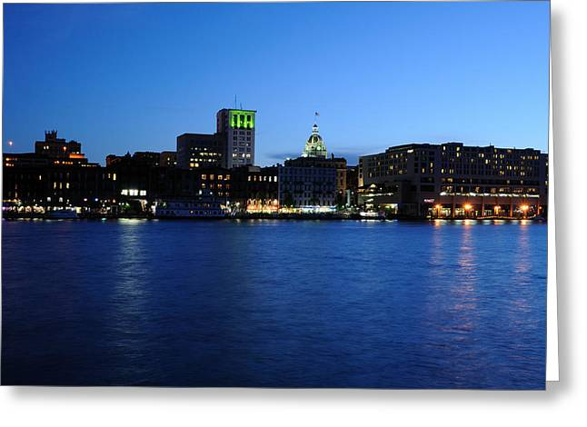 Case Design bradford city phone case Savannah Waterfront From River Greeting Card by Bradford Martin