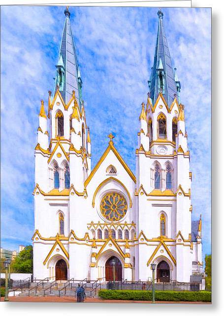 Savannah's Fairytale Cathedral Greeting Card by Mark E Tisdale