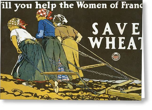 Save Wheat Greeting Card by Edward Penfield